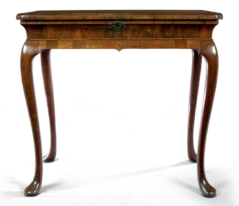 x SOLD : George I Period Walnut Silver Table