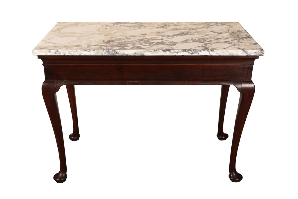 Superb George II Red Walnut Console Table
