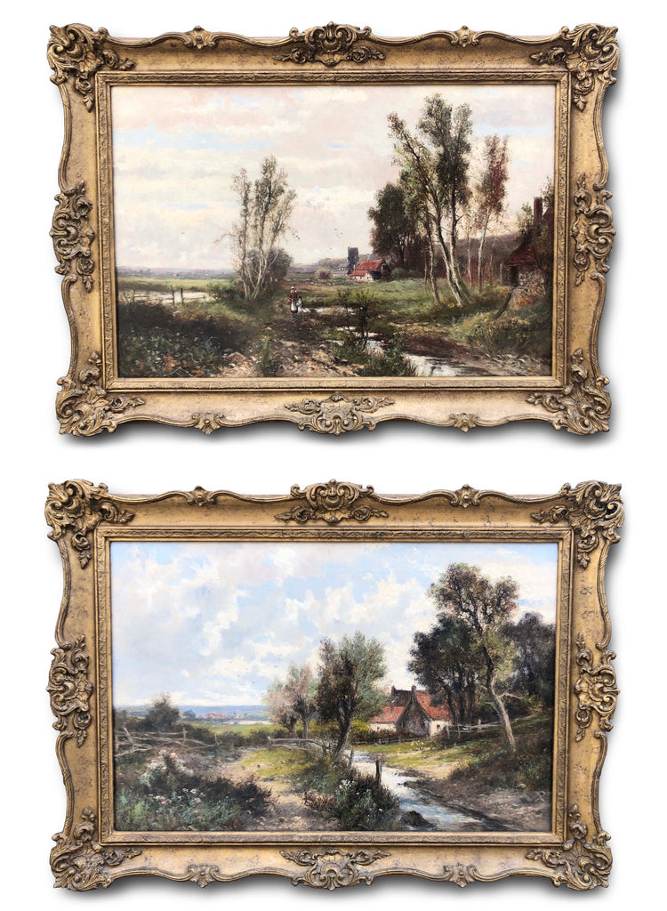 Oil Paintings, Pair of Landscapes by Abraham Hulk Junior (1813-1897)