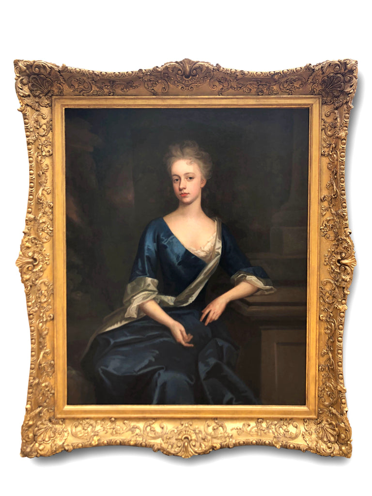 Oil Painting,Portrait of Viscountess Harcourt, Att to Michael Dahl (1659-1743)