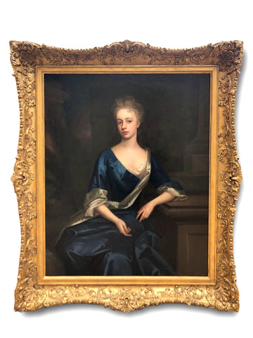 Oil Painting, Portrait of Viscountess Harcourt, Att to Michael Dahl (1659-1743)