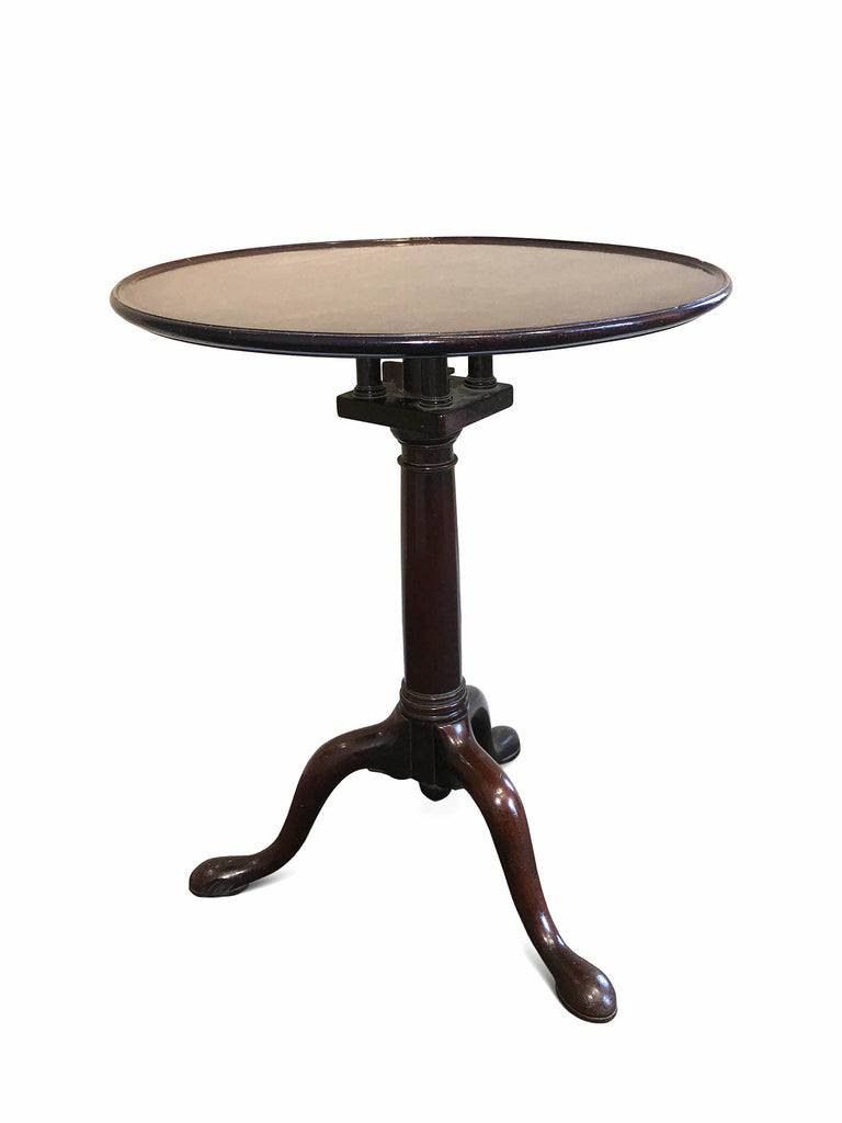 George III Mahogany dish Top Wine Table (England, c. 1760).