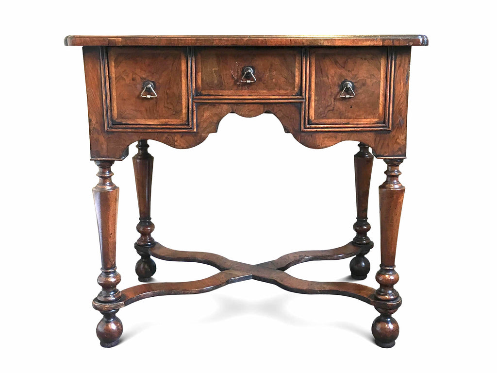 SOLD - William & Mary Walnut Lowboy (England, c. 1700). SOLD