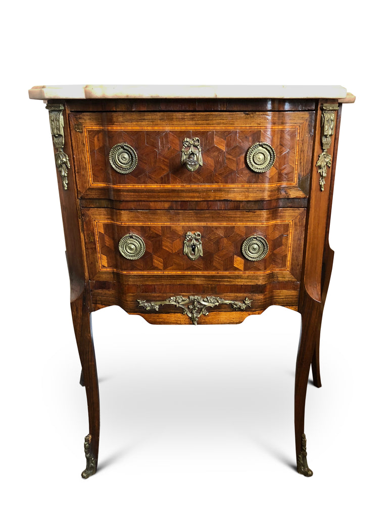19th Century Rosewood French Parquetry Side/Bedside Table