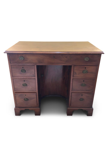 George III Mahogany Kneehole Desk
