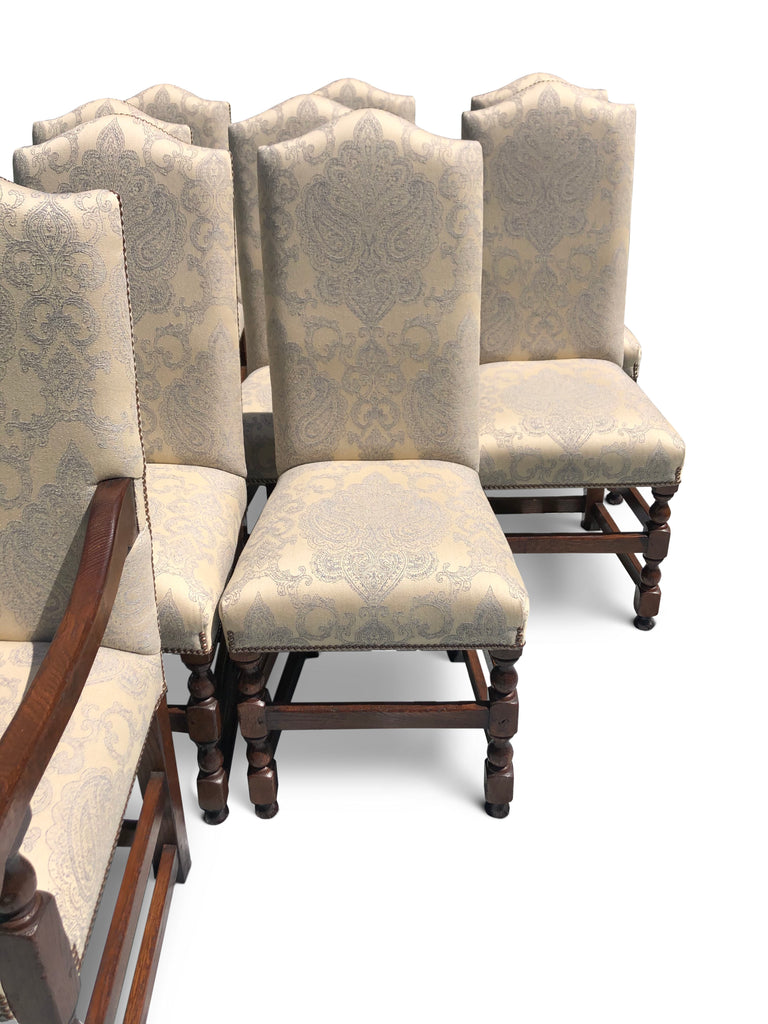 Picture of: Dining Chairs Upholstered In Damask Fabric 10 Garners