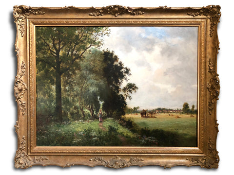 Oil Painting, Landscape by Ernest Guillemer ( French 1839-1913)