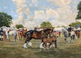 Oil Painting 'The Showground' by Reginald Llewellyn Harvey 1888 - 1973