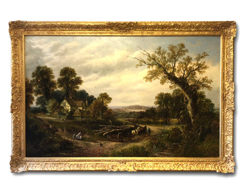 Oil Painting by 19th Century Landscape artist Thomas