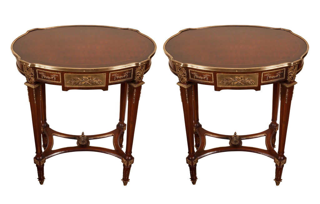 Louis XV Style Parquetry Side or Bedside Tables
