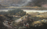 fine-detail-sottish-landscape-oil-painting-nasmyth-cows-sheep-loch