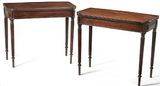x SOLD : Pair of Regency Mahogany Card Tables attributed to Gillows