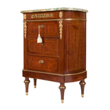 x SOLD : A Rare and Unique Pair of Antique Italian Commodes or Bedside Chests