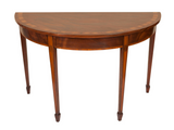 x SOLD: Pair of George III Mahogany Demi Lune Console Tables