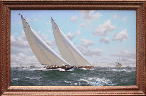 Superb Yachting Scene Oil on Canvas by Richard Firth SOLD (Pls enquire for New pics or Commissions).