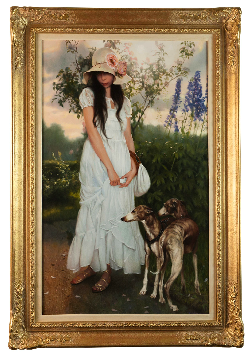 x SOLD: Summer Portrait; Oil on Canvas by Andrei Belichenko and Maria Boohityarova