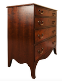 A small and handsome antique mahogany chest of drawers