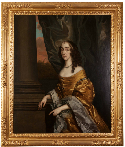 Oil on Canvas Portrait of a Lady by the studio of Sir Peter Lely; Circa 1660