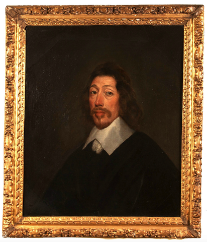 x SOLD : Oil on Canvas; 'Portrait of a Gentleman' Circle of Van Dyck
