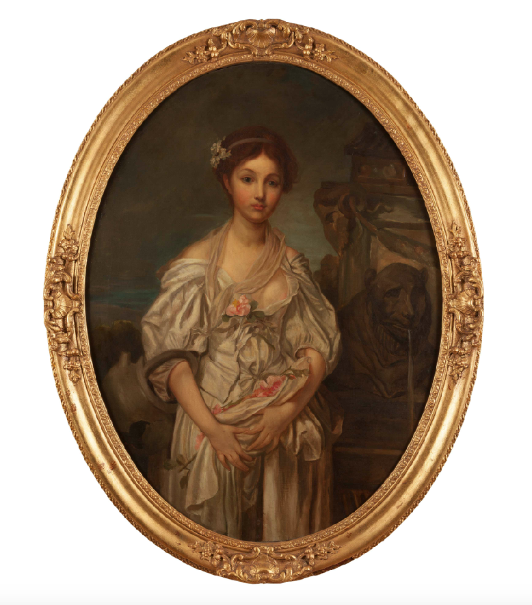 x SOLD : Oil on Canvas; after Jean Baptiste Greuze (French 1725-1805)