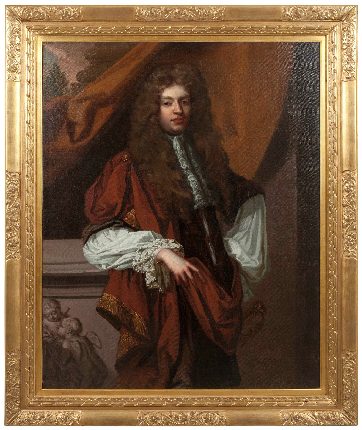 Oil on Canvas; Three Quarter Length Portrait of a Gentleman. Circle of Sir Godfrey Kneller (British 1646-1723)