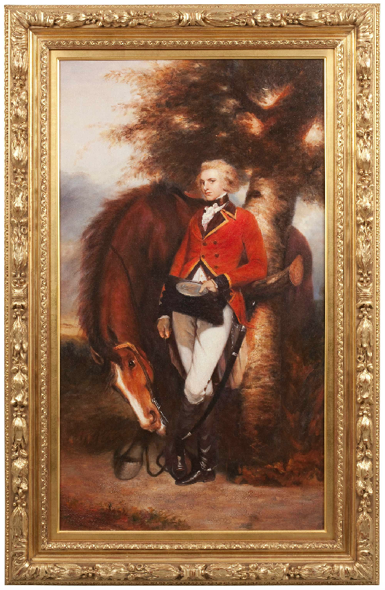 Modern Copy Oil on Canvas, 'Colonel George H Coussmaker Grenadier Guards' by Joshua Reynolds