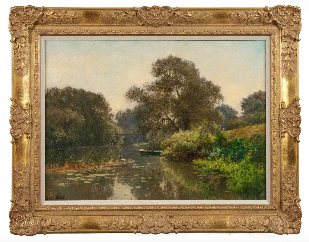 x SOLD : Oil on Canvas; French Landscape by Gabriel Mathieu (French 1843-1921)