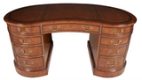 kidney shape walnut desk