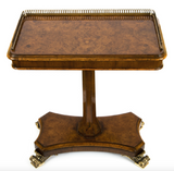 Lovely Pair of Burr Walnut Galleried Side Tables