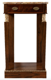 X SOLD:  Gilt Mounted Empire Console Table in Rosewood