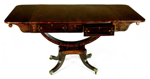 x SOLD: Regency Mahogany Sofa Table