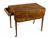 Pembroke Table in Plum Pudding Mahogany, Sheraton Period