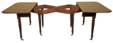 Antique space saving mahogany extending dining table