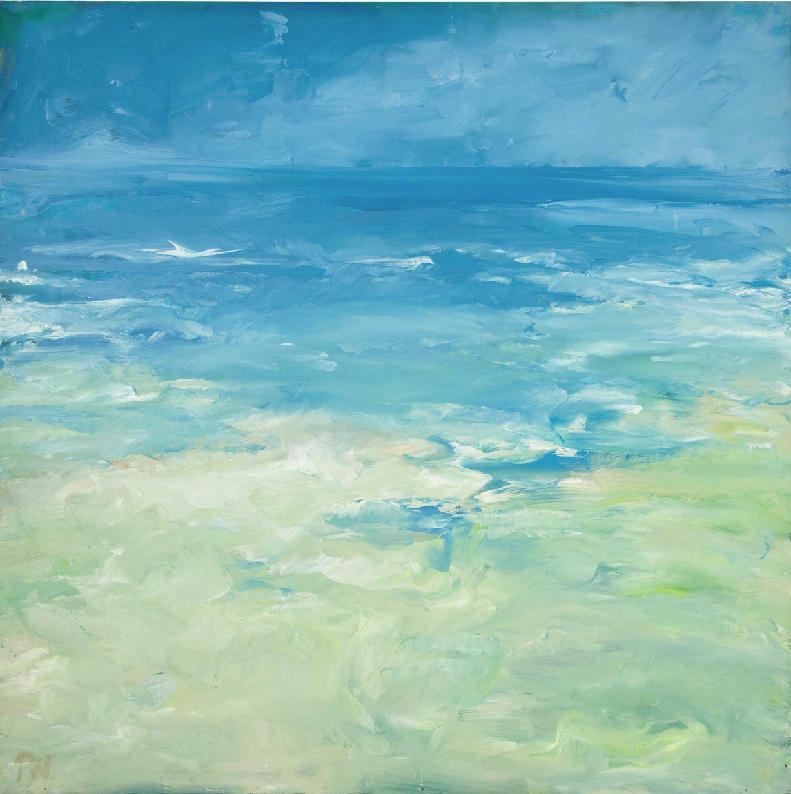 x SOLD : Seascape by Pamela Noyes (British)