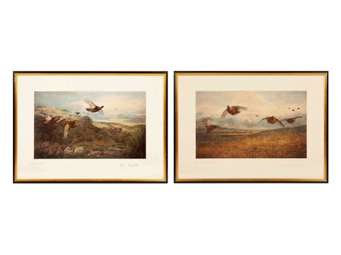 Pair of Signed limited edition prints ; by Archibald Thorburn