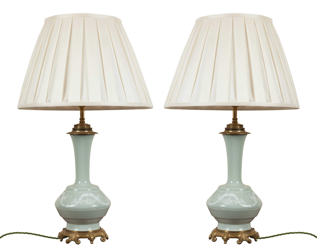 x SOLD : A Pair of Antique French Table Lamps