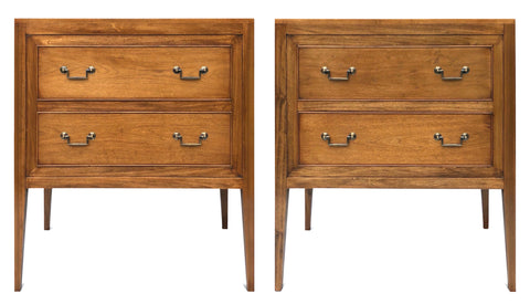 Pair of Bespoke Walnut Chests of Drawers