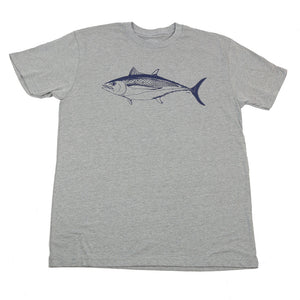 """Albacore"" Short Sleeve T-shirt in Heather Grey"