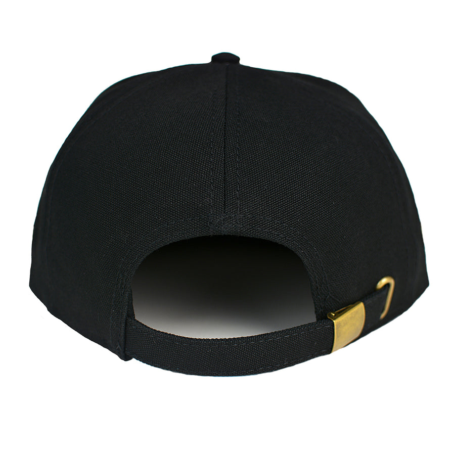 """Birch Bay"" 7 Panel Hat in Black"