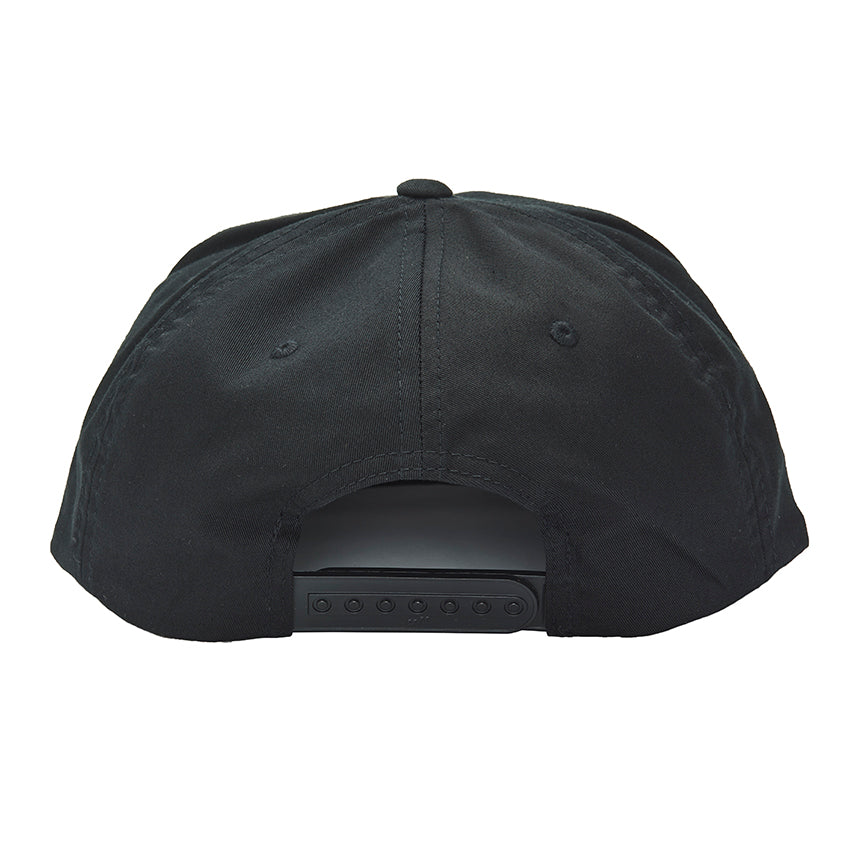 """Pacific Swell"" Snapback Unstructured 5 Panel Hat in Black"