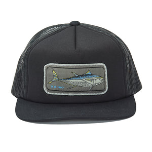 """Bluefin"" Patch Design on a Black Foamy Trucker"