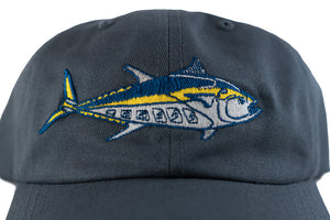 """Bluefin"" Dad Hat in Grey"