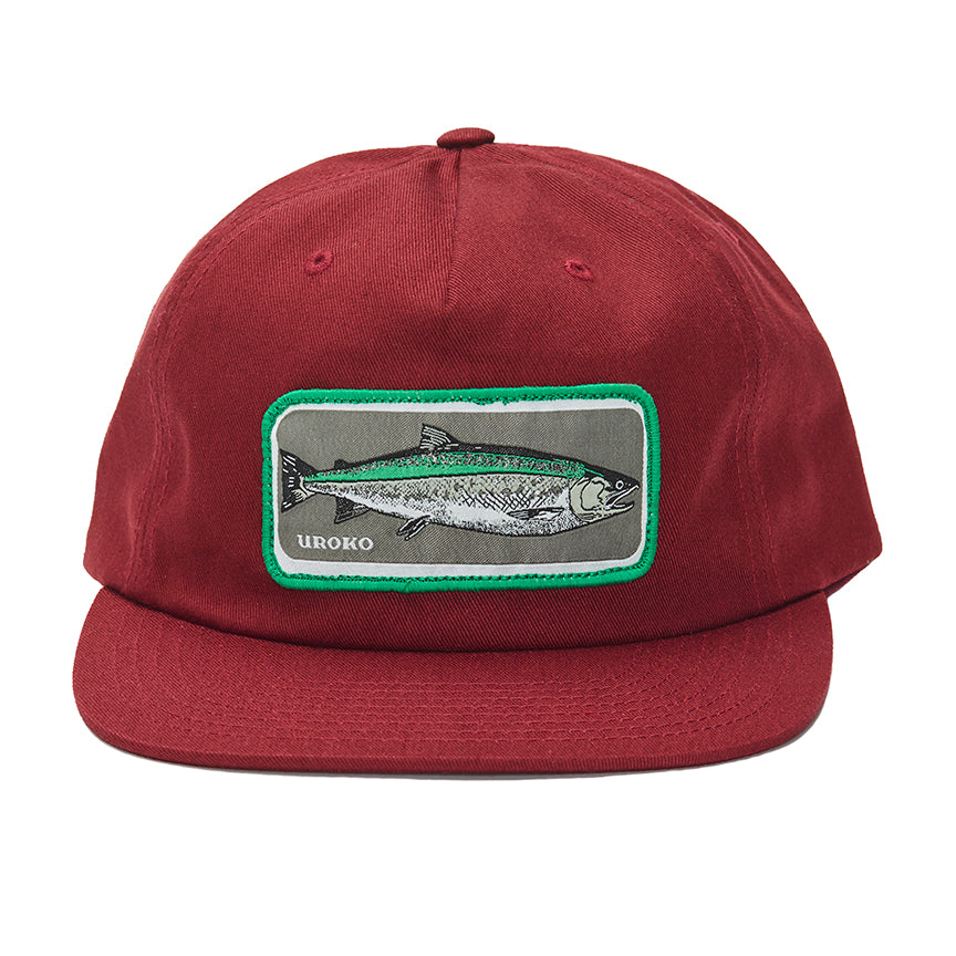"""Coho"" Patch on a Maroon 5 Panel Unstructured Hat"