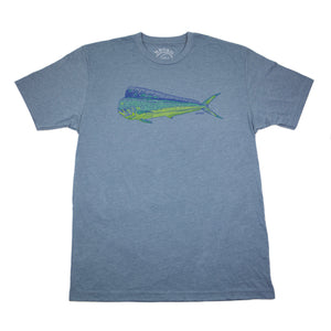 """Dorado"" Short Sleeve T-Shirt in Indigo"