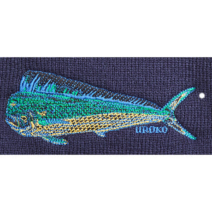 """Dorado"" (aka: Dolphin Fish or Mahi mahi) Watch Cap (Cuffed Beanie) - Navy"