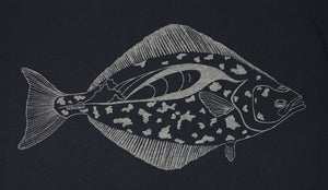 """Halibut"" Short Sleeve T-Shirt in Black"