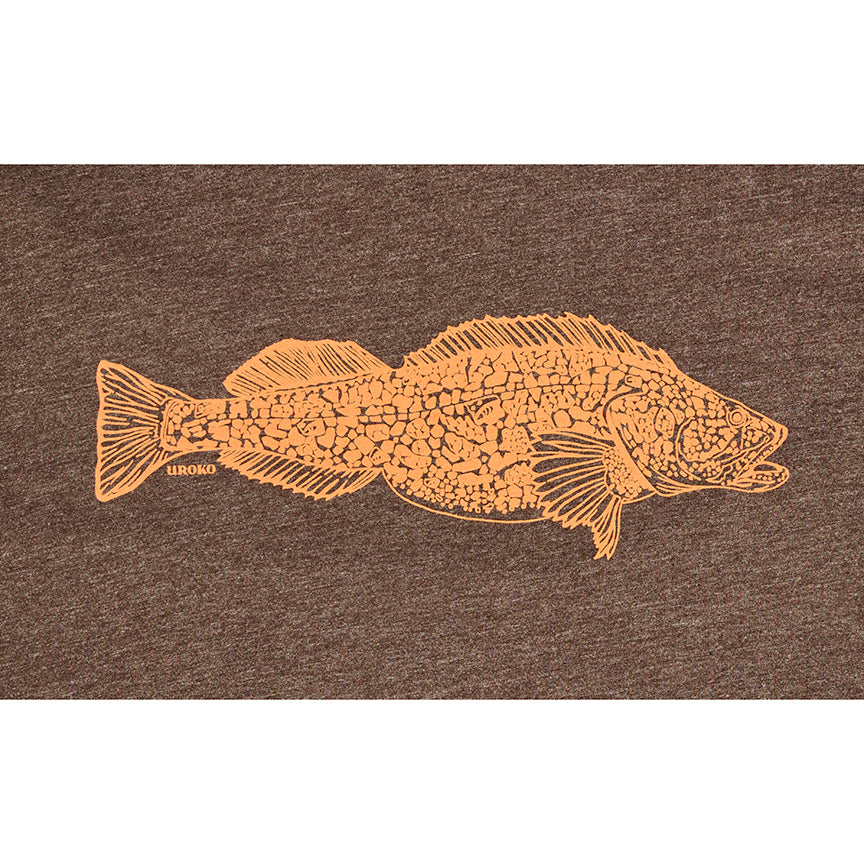 """Ling Cod"" Short Sleeve T-shirt in Espresso"
