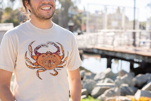 """Dungeness Crab"" Short Sleeve T-Shirt in Cream"