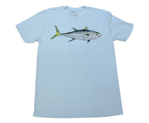 """Bluefin"" Short Sleeve T-Shirt in Light Blue"