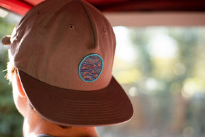 """Sunrise"" Patch on a Steel Grey Unstructured Hat"